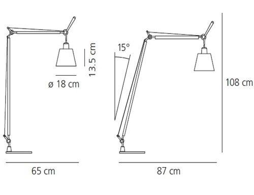 aanbieding artemide tolomeo basculante lettura perkament. Black Bedroom Furniture Sets. Home Design Ideas