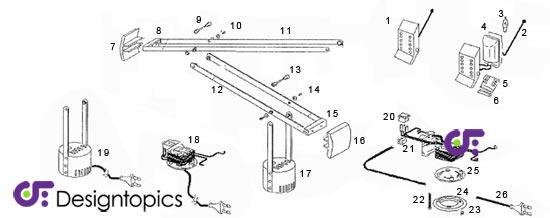 Aanbieding artemide tizio 35 onderdelen te koop designtopics design verlichting lamp webshop - Gloeilamp tizio lamp ...