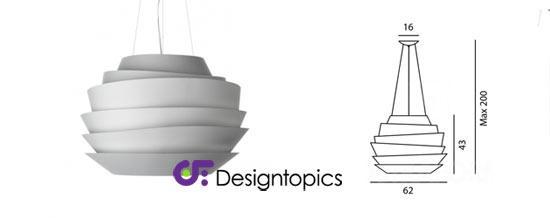 aanbieding foscarini le soleil wit te koop designtopics. Black Bedroom Furniture Sets. Home Design Ideas