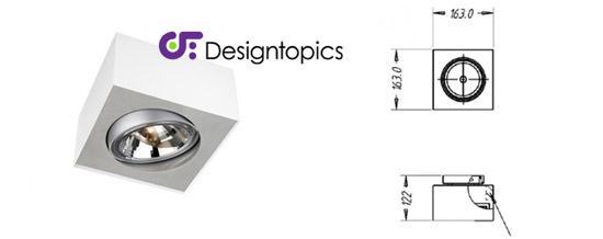 aanbieding lirio bloq 1qr wit te koop designtopics design verlichting lamp webshop. Black Bedroom Furniture Sets. Home Design Ideas