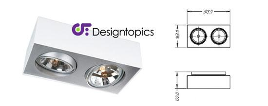 aanbieding lirio bloq 2qr wit te koop designtopics design verlichting lamp webshop. Black Bedroom Furniture Sets. Home Design Ideas