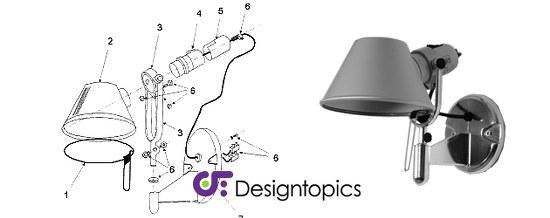 aanbieding onderdelen artemide te koop designtopics. Black Bedroom Furniture Sets. Home Design Ideas