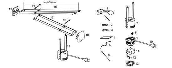Aanbieding 3 artemide tizio onderdelen te koop designtopics design verlichting lamp webshop - Gloeilamp tizio lamp ...