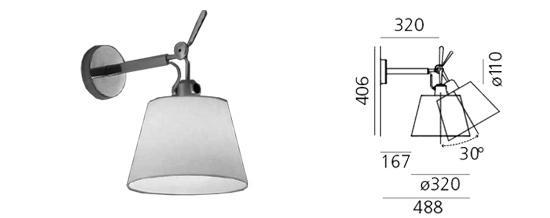 de aluminium lichtbronhouder is voorzien van een fitting e27 geschikt voor een halogeenlichtbron of spaarlamp van max 100 watt